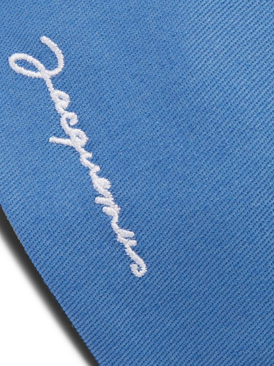 Jacquemus Logo-Embroidered Cotton-Twill Cap
