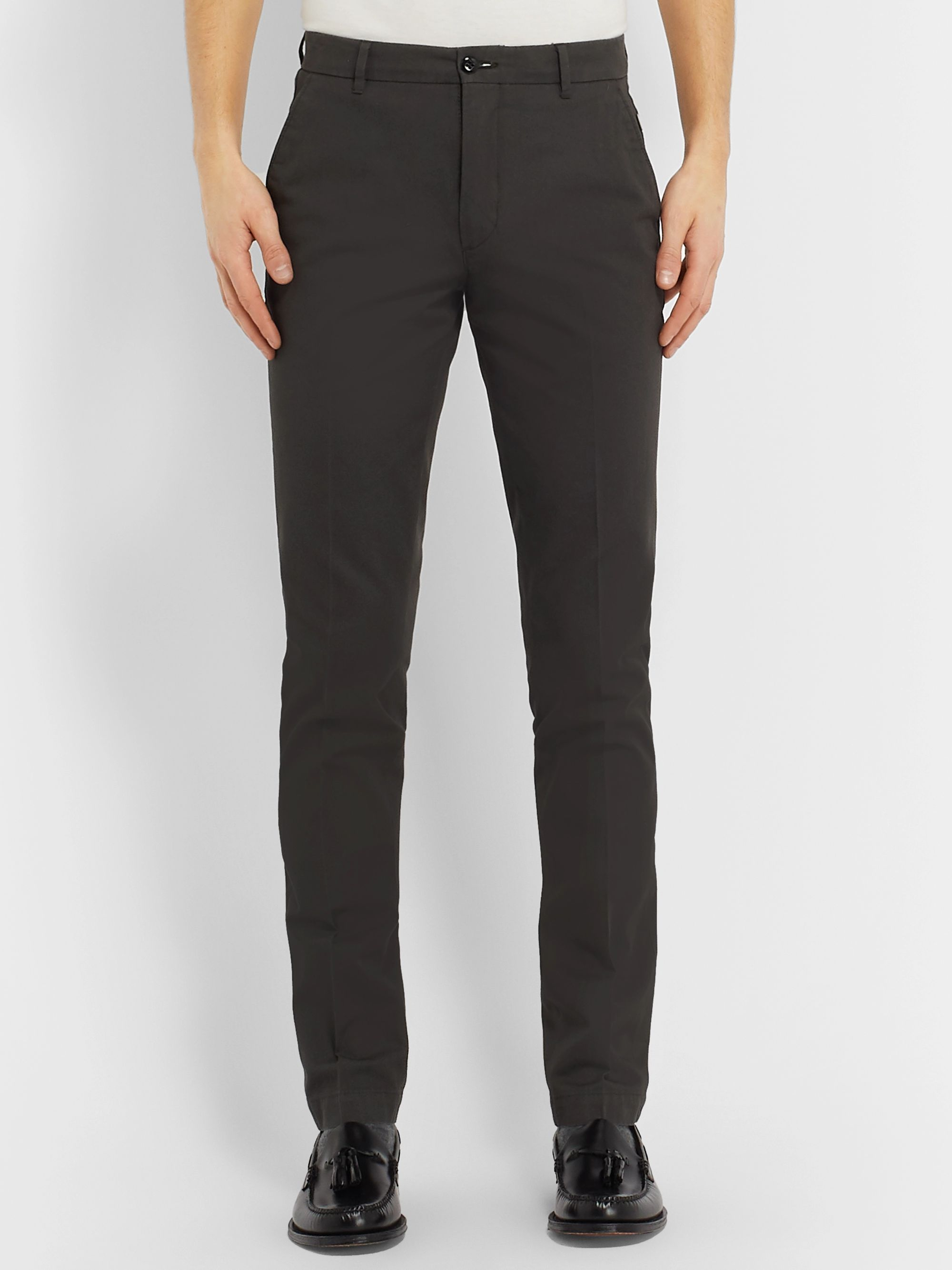 Bellerose Slim-Fit Tapered Cotton-Twill Trousers