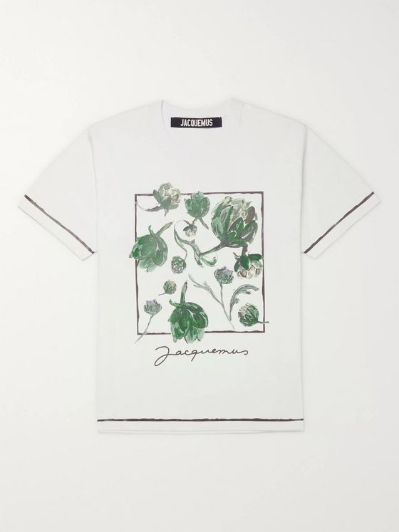 Jacquemus Mala Printed Cotton-Blend Jersey T-Shirt