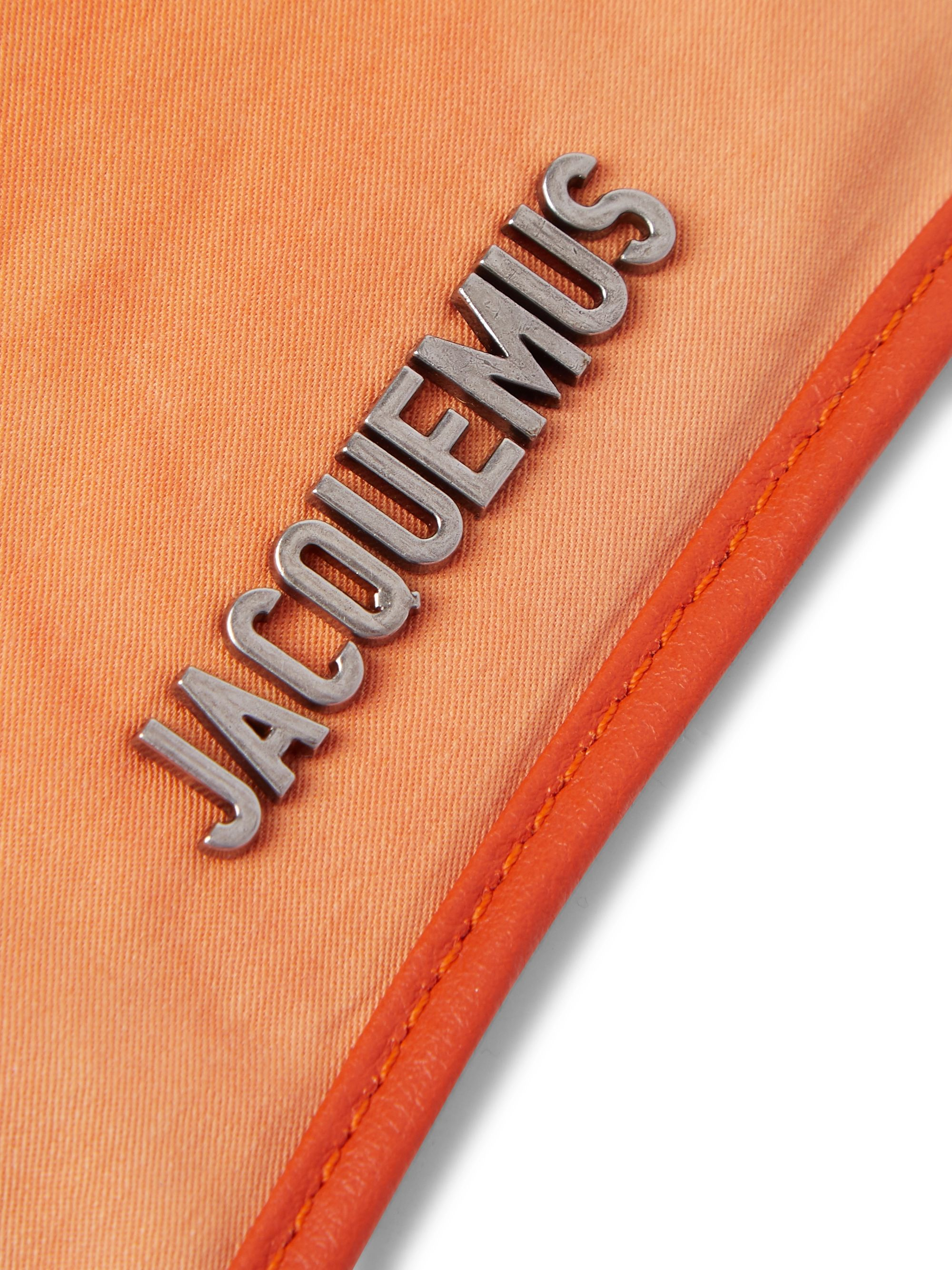 Jacquemus La Banane Leather-Trimmed Tie-Dyed Cotton Belt Bag