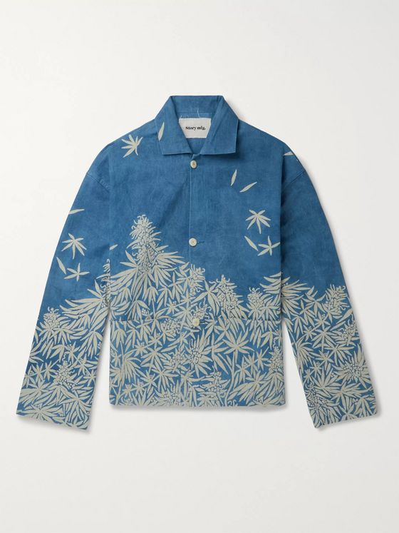 Story Mfg. Printed Organic-Cotton Canvas Overshirt