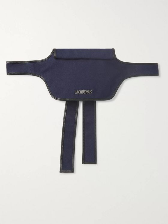 Jacquemus La Banane Logo-Embellished Leather-Trimmed Cotton-Canvas Belt Bag