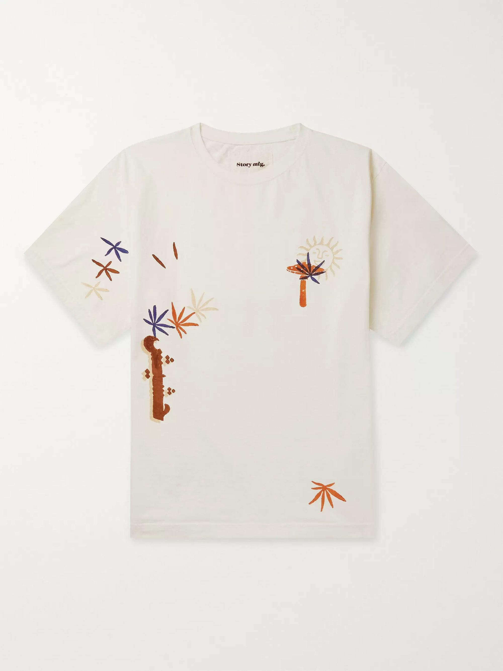 Story Mfg. Grateful Printed Organic Cotton-Jersey T-Shirt