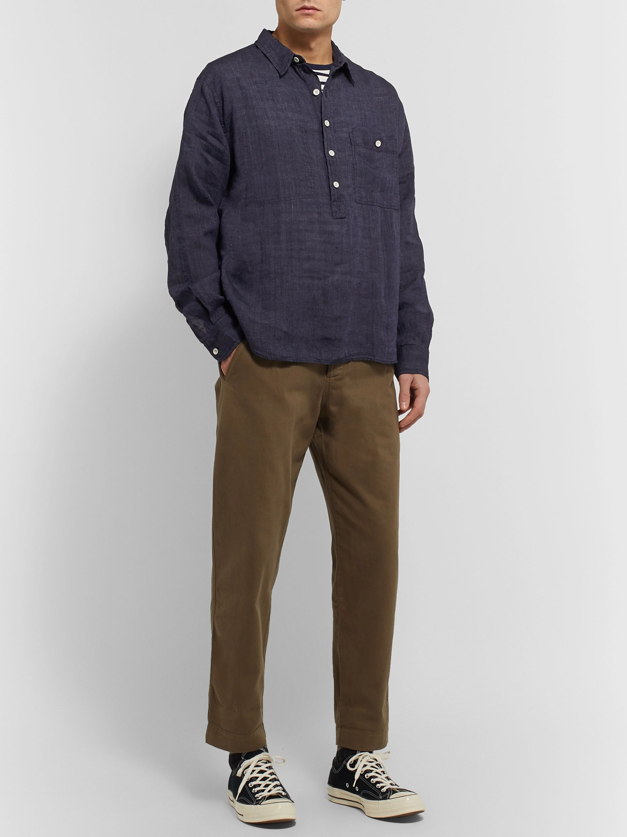 Albam Linen Half-Placket Shirt