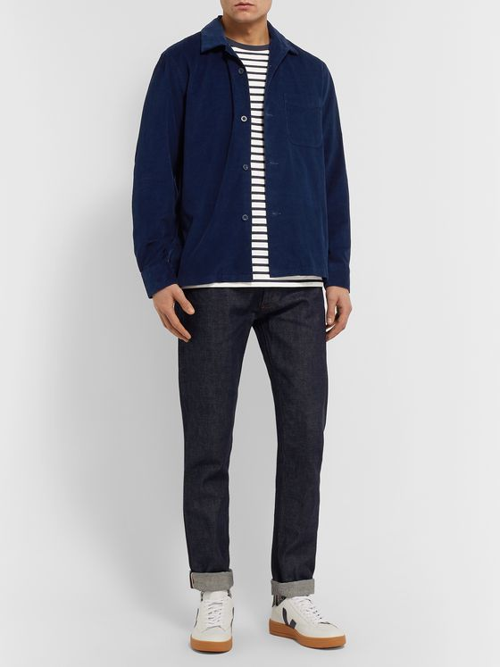Bellerose Camp-Collar Cotton-Corduroy Shirt