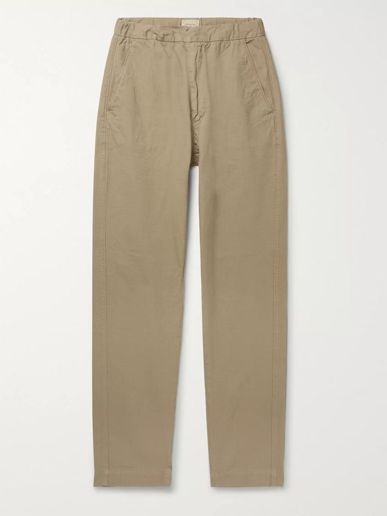 Bellerose Tapered Cotton-Ripstop Drawstring Trousers