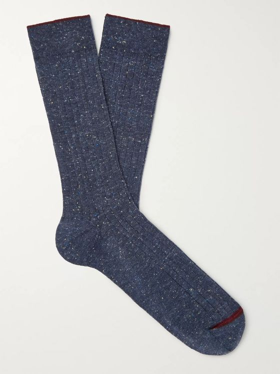 Bellerose Ribbed Cotton-Blend Socks