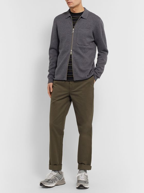 Bellerose Slim-Fit Wool Zip-Up Cardigan