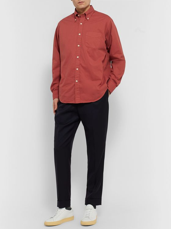 Bellerose Button-Down Collar Cotton-Twill Shirt