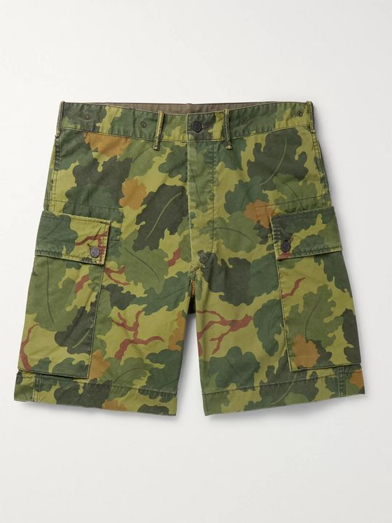 RRL Camouflage-Print Cotton-Canvas Cargo Shorts
