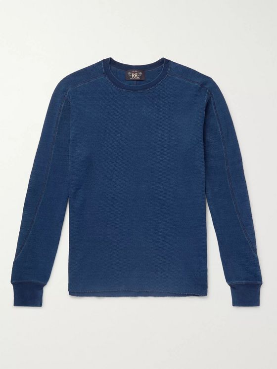 RRL Slim-Fit Mélange Cotton-Mesh T-Shirt