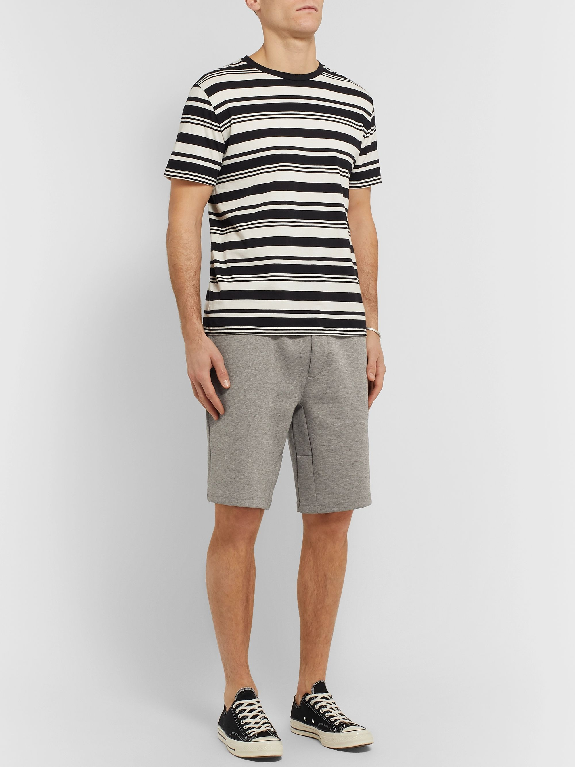 Polo Ralph Lauren Mélange Tech-Jersey Drawstring Shorts