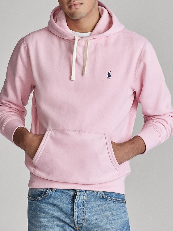 Polo Ralph Lauren Fleece-Back Cotton-Blend Jersey Hoodie