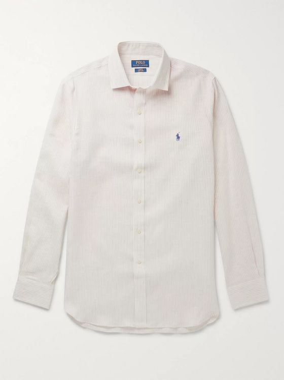 Polo Ralph Lauren Slim-Fit Striped Linen Shirt