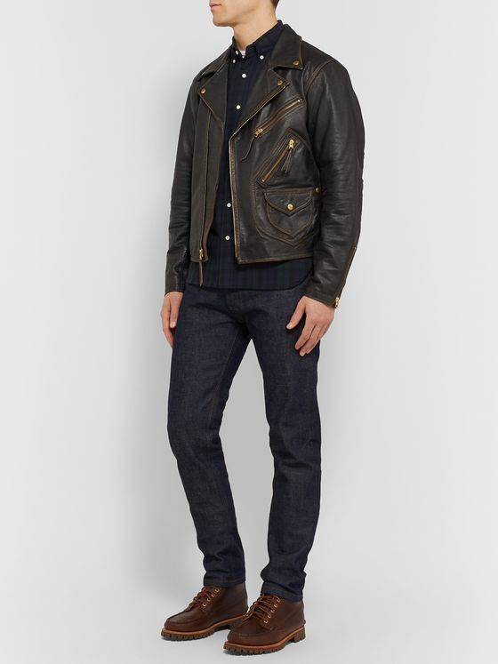 RRL Marshall Leather Biker Jacket