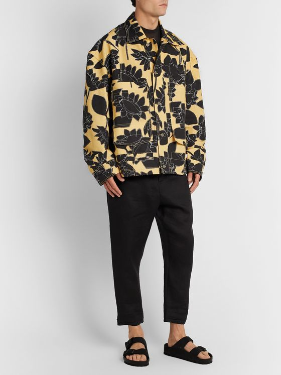 Jacquemus Marcel Floral-Print Linen and Cotton-Blend Chore Jacket