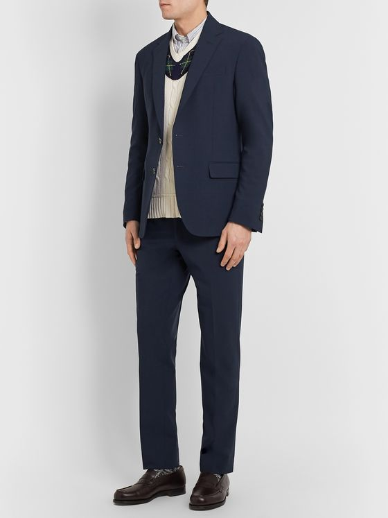 Polo Ralph Lauren Slim-Fit Wool-Blend Seersucker Suit Jacket