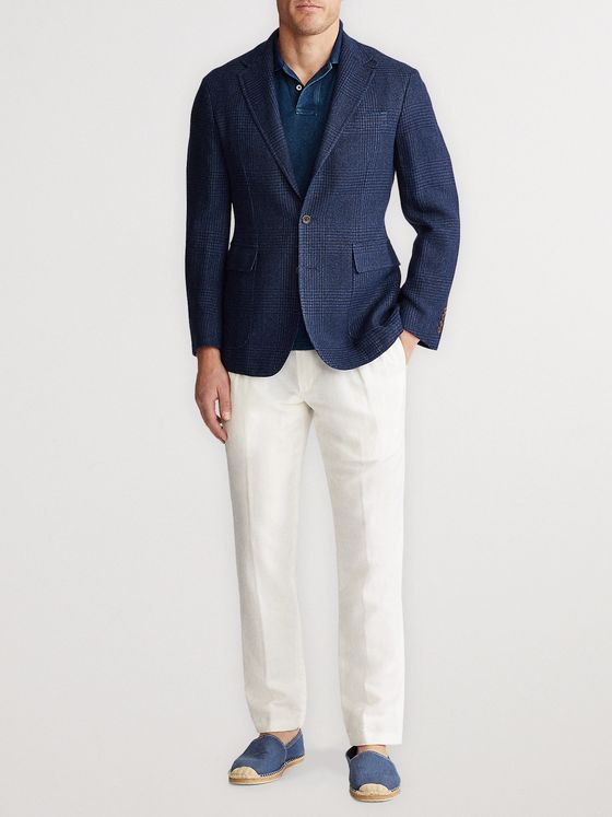 Polo Ralph Lauren Slim-Fit Prince of Wales Wool and Linen-Blend Blazer