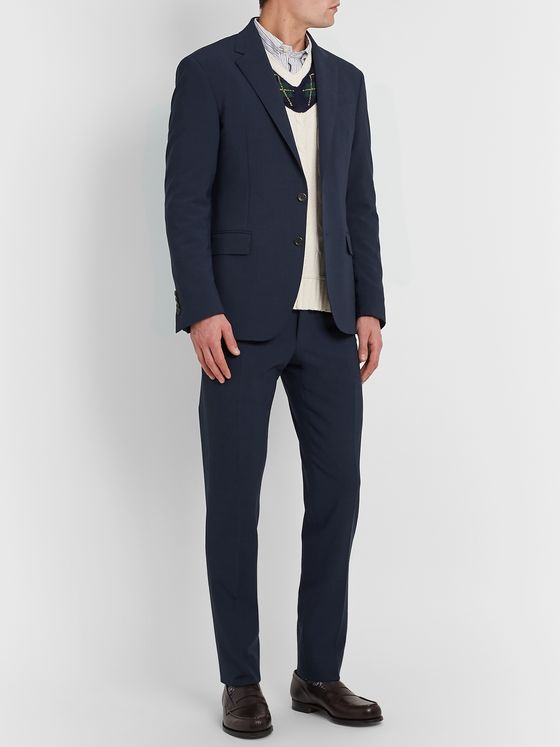Polo Ralph Lauren Slim-Fit Wool-Blend Seersucker Suit Trousers