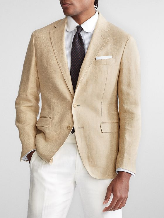Polo Ralph Lauren Beckham Slim-Fit Unstructured Herringbone Linen Blazer