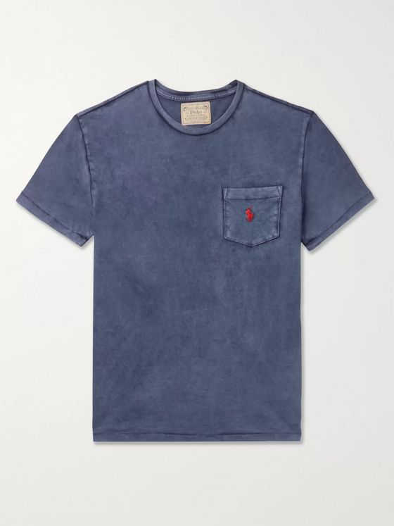 Polo Ralph Lauren Garment-Dyed Slub Cotton-Jersey T-Shirt