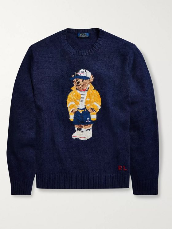 Polo Ralph Lauren Intarsia Cotton and Linen-Blend Sweater