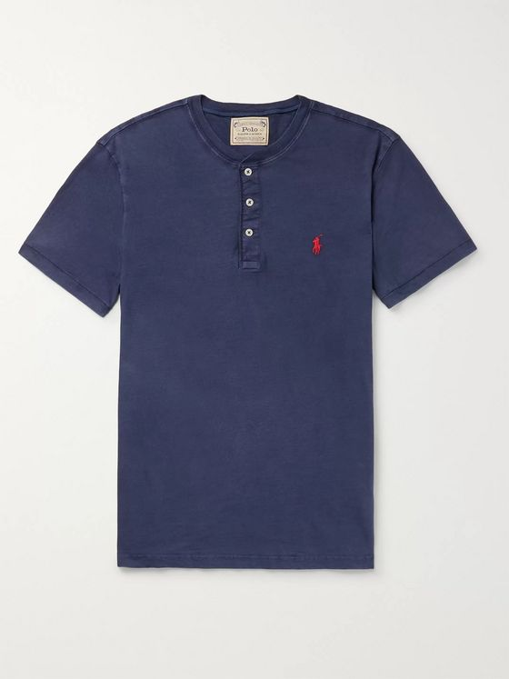 Polo Ralph Lauren Slim-Fit Slub Cotton-Jersey Henley T-Shirt