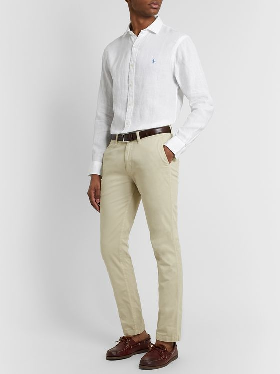 Polo Ralph Lauren Slim-Fit Linen-Chambray Shirt