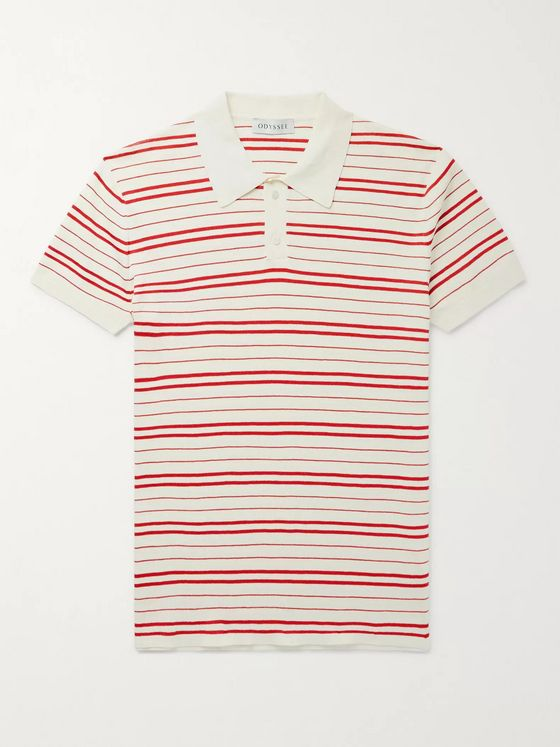 Odyssee Riker Slim-Fit Striped Cotton Polo Shirt