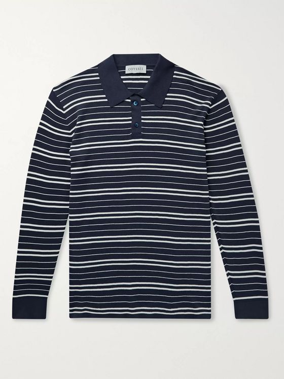 Odyssee Meadow Slim-Fit Striped Cotton Polo Shirt