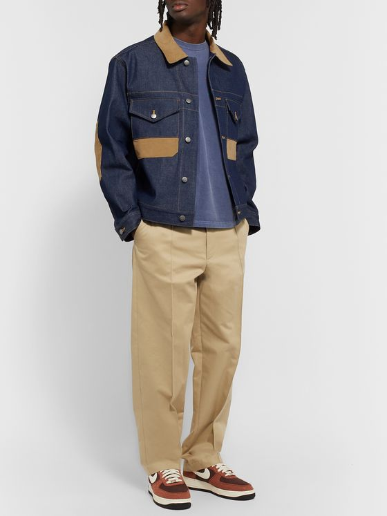Nicholas Daley Corduroy-Trimmed Denim Jacket