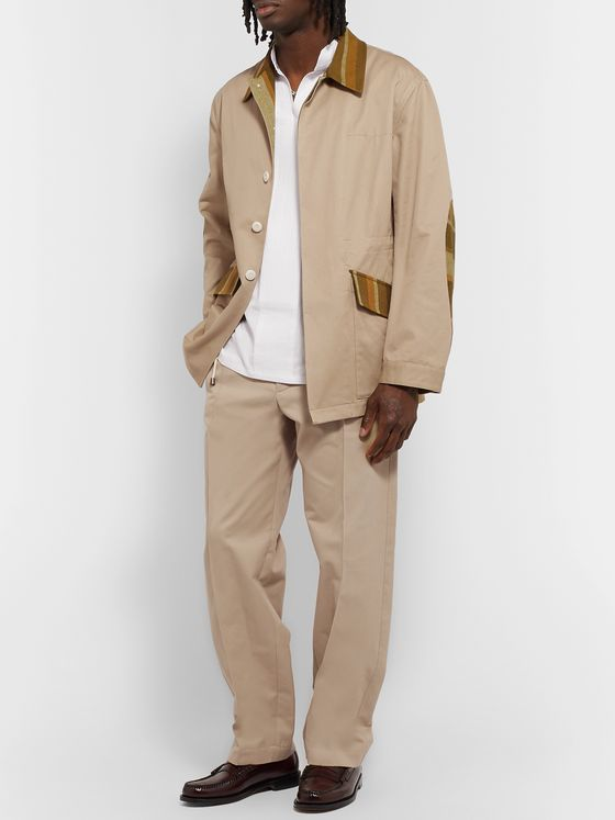 Nicholas Daley Canvas-Panelled Cotton-Twill Field Jacket