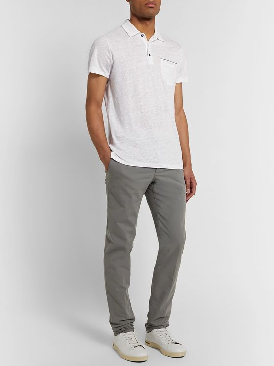 Odyssee Rochers Linen Polo Shirt