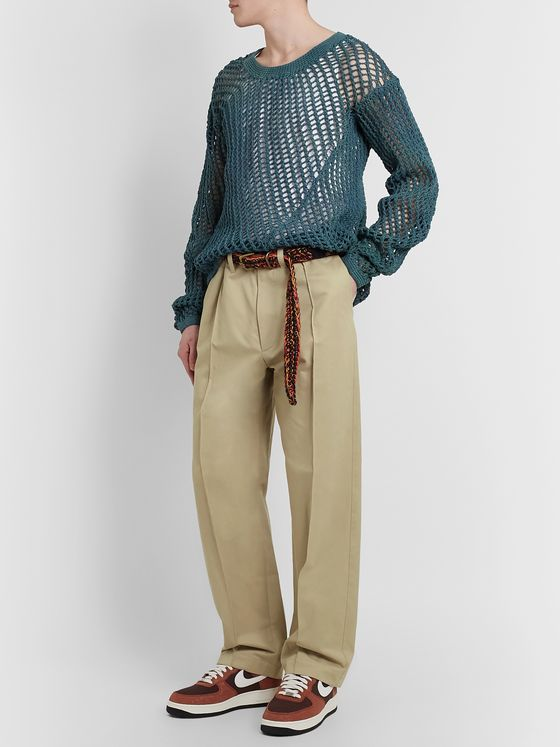 Nicholas Daley Pleated Cotton-Twill Trousers