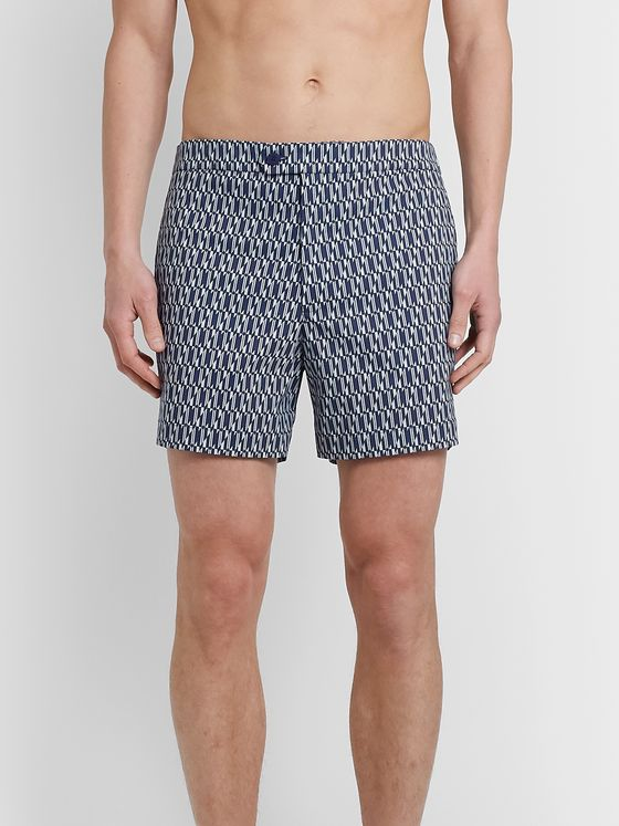 Odyssee Eluard Slim-Fit Short-Length Printed Swim Shorts