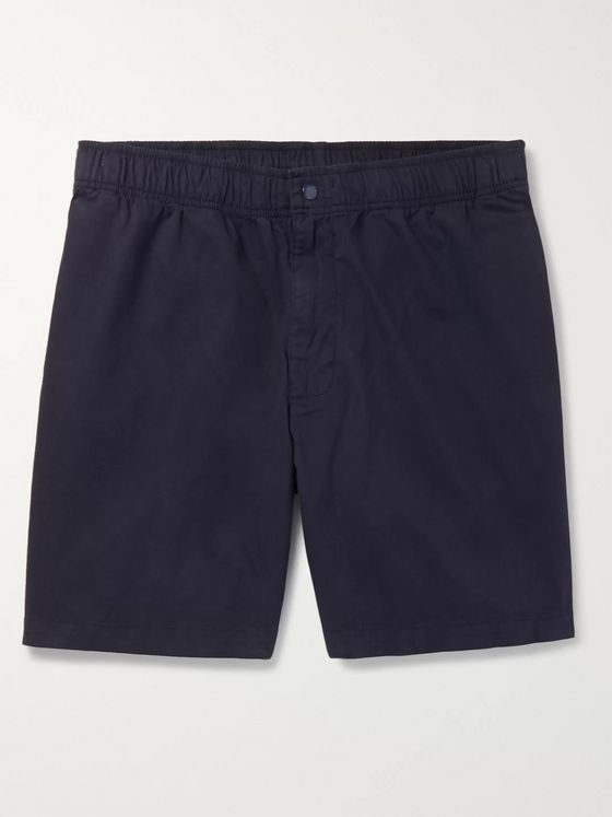 Adsum Bank Wide-Leg Cotton-Twill Shorts