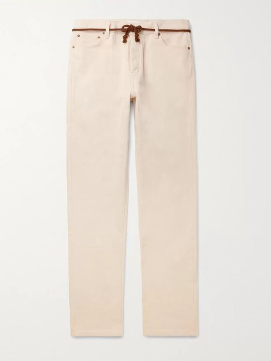 Nanushka Ilya Slim-Fit Cotton-Twill Trousers