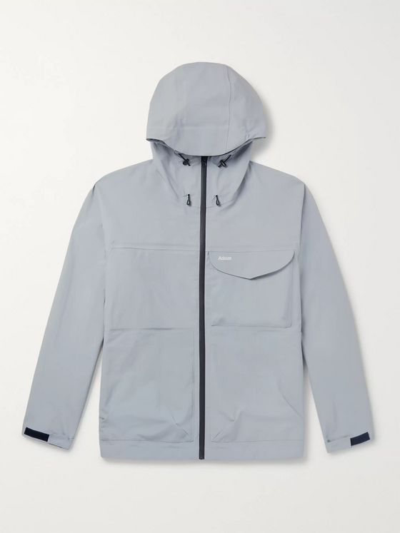 Adsum Marsu Logo-Embroidered Shell Hooded Jacket
