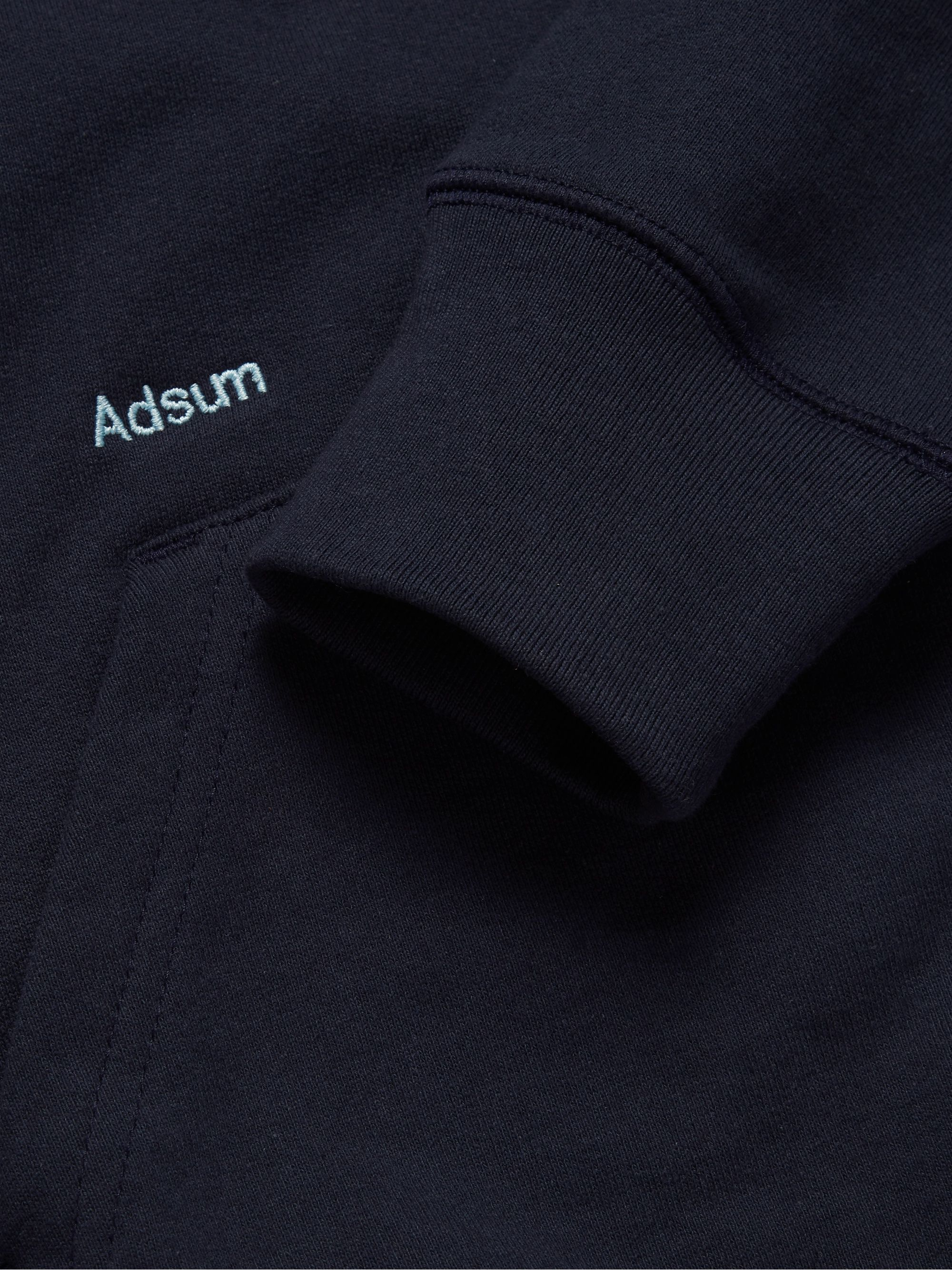 Adsum Logo-Embroidered Loopback Cotton-Jersey Hoodie