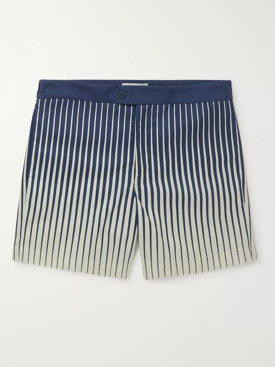 Odyssee Fournel Mid-Length Striped Swim Shorts