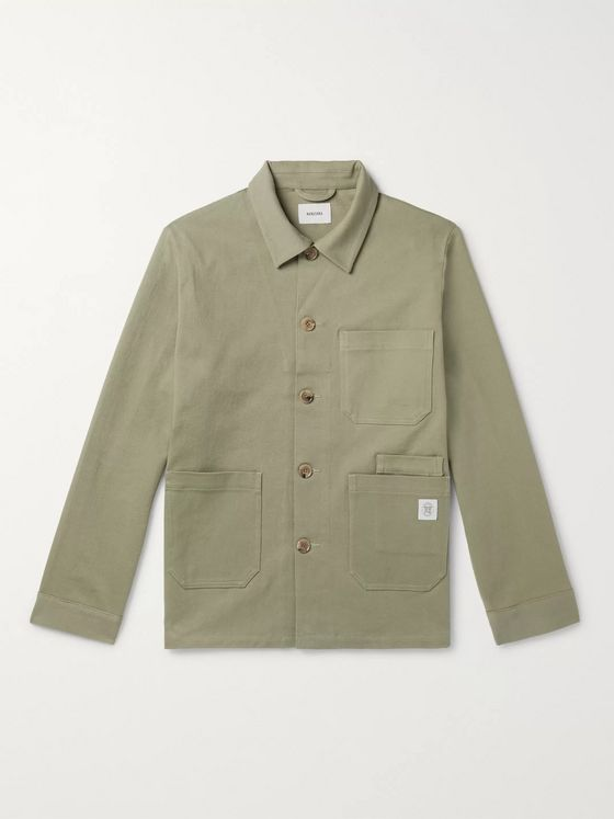 Nanushka Theo Stretch-Cotton Twill Chore Jacket