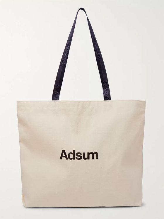 Adsum Logo-Print Organic Cotton-Canvas Tote Bag