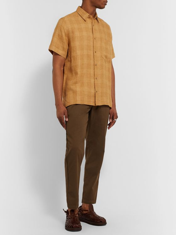Nanushka Adam Checked Linen Shirt
