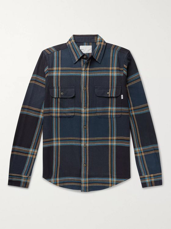 Adsum Checked Cotton-Flannel Shirt