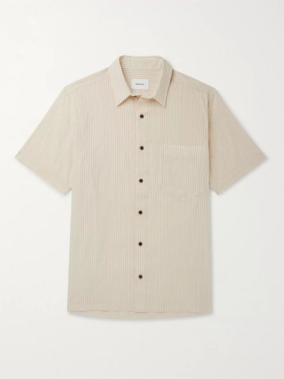 Nanushka Adam Striped Cotton-Blend Shirt