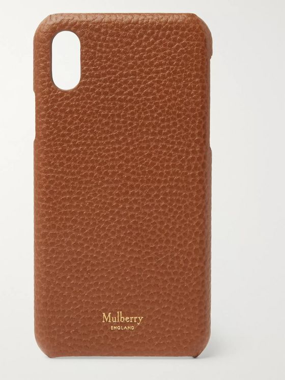 Mulberry Full-Grain Leather iPhone X Case