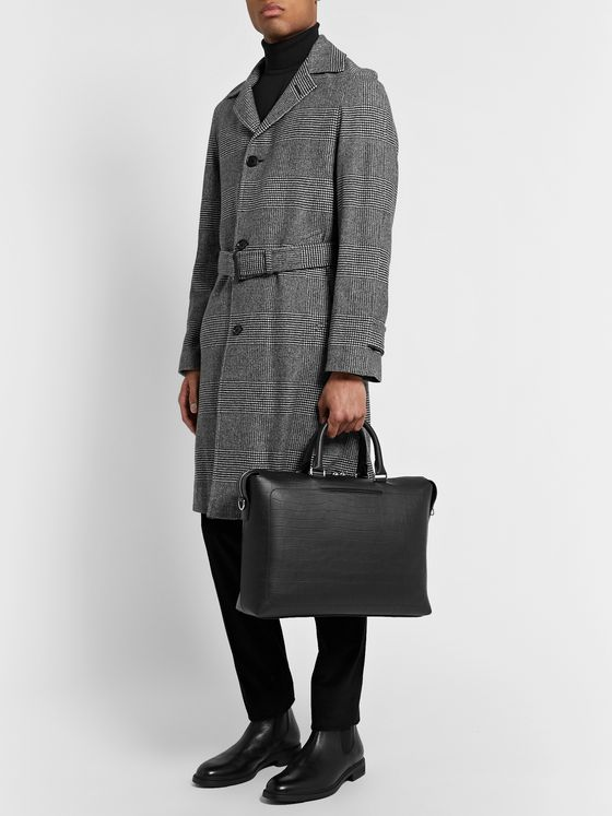 Mulberry City Croc-Effect Leather Briefcase