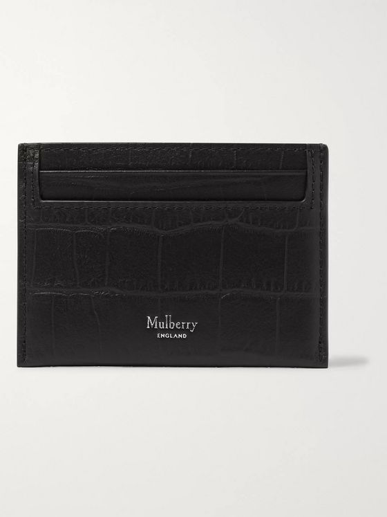 Mulberry Croc-Effect Leather Cardholder