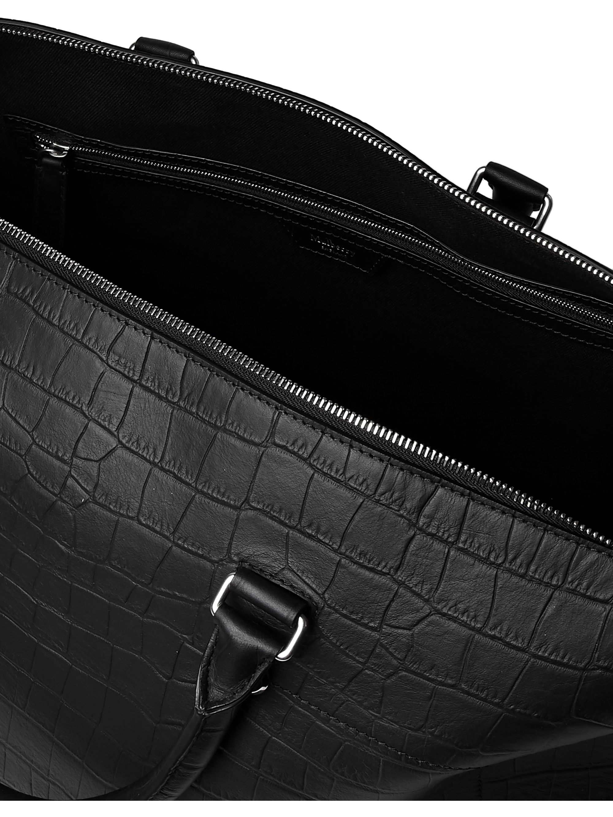 Mulberry City Weekender Croc-Effect Leather Holdall