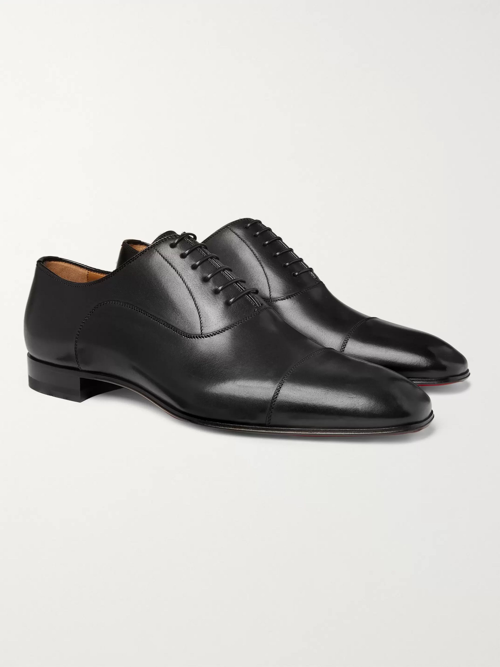 Greggo Leather Oxford Shoes by Christian Louboutin